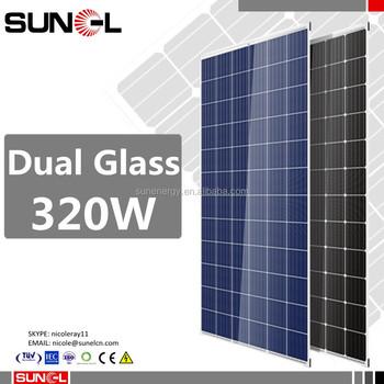 Trina Duomax Serie Doble De Vidrio Sin Marco Paneles Solares 320 W ...
