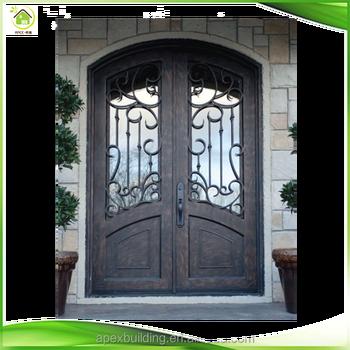 Security Wrought Iron Wine Cellar Double Patio Doors