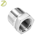 Customized SS Nipple Coupling Nickel Plated Hex Reducing Bushing Male Female Thread Reducer