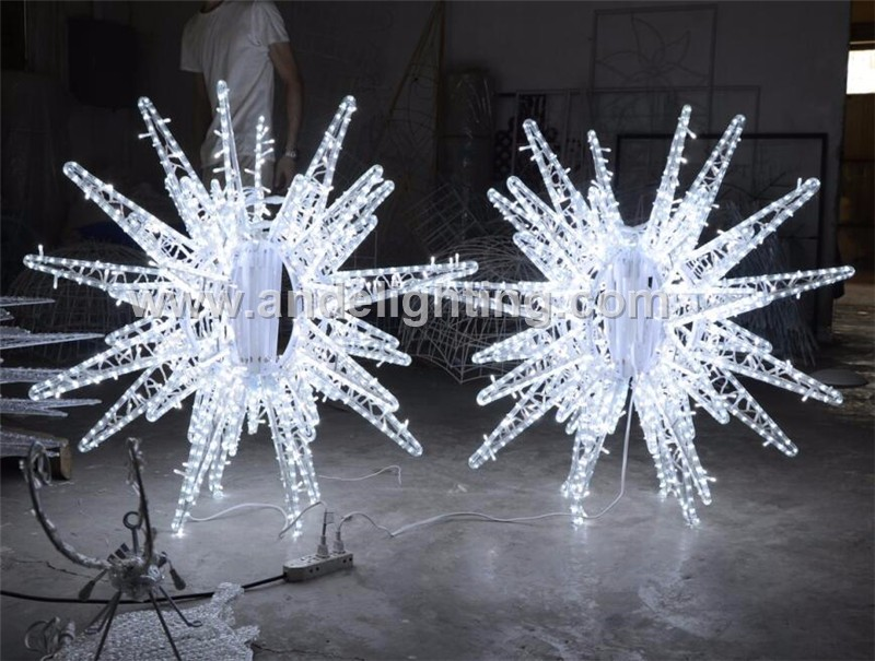 2017 new led christmas outdoor street decoration 3d star for 3d star decoration