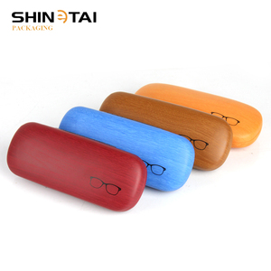 Personalized Custom Print Material Iron Wooden Grain Glasses Case Box