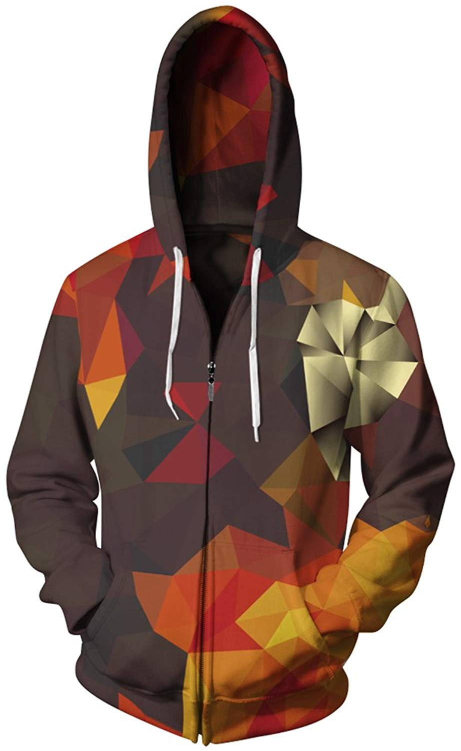 Imilan Men's Galaxy Printed Hoodie Full Zip Sweatshirt Athletic Coat Jacket