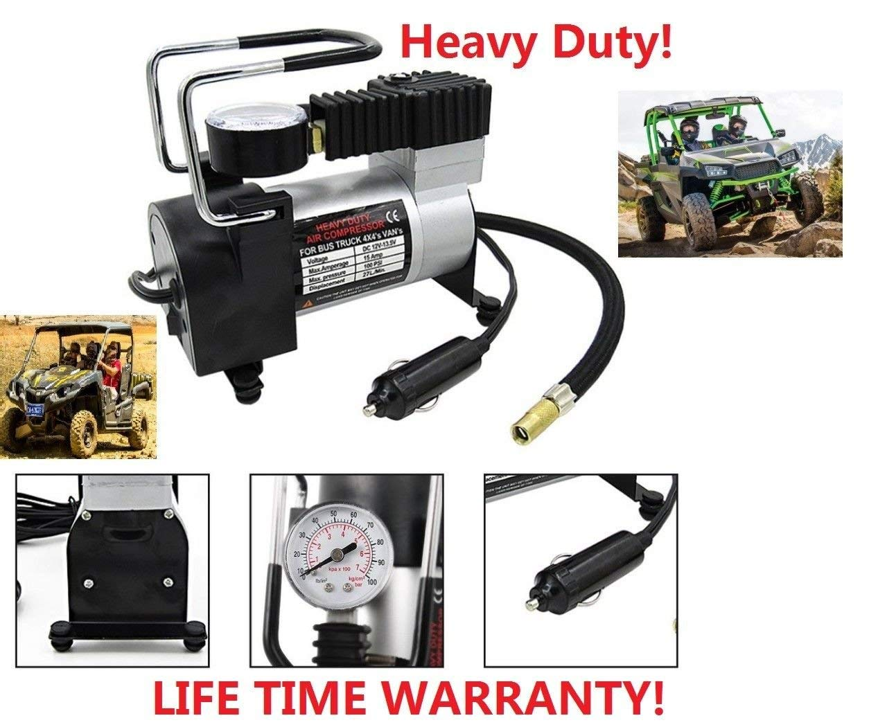 Heavy Duty Air Compressor DC 12V Portable Tire Inflator Auto for Car Bike Bicycle Basketball Electric Tire Air Inflator Pump