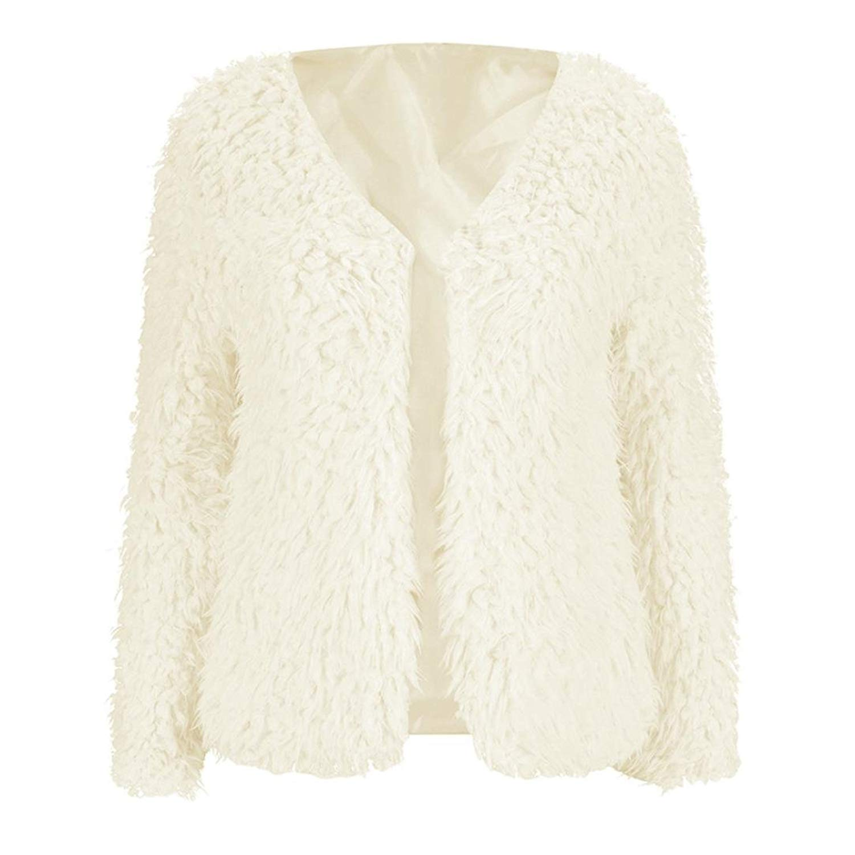 Warm Cardigan Jacket, Leyorie Fashion Women Winter Fluffy Coat Lady Outwear Short Casual Blouse