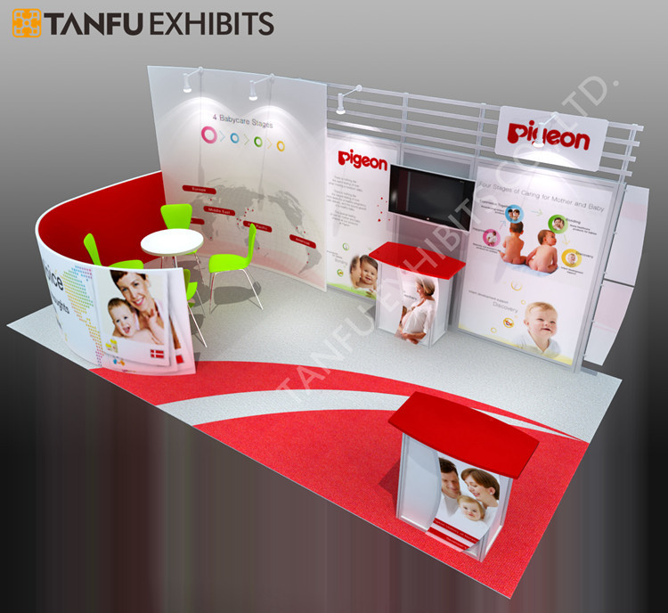 Custom Exhibition Stand Game : Tanfu or custom trade show stand with hanging banner