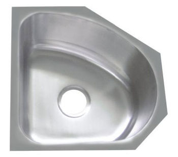 CUPC Small Size Stainless Steel Corner Single Bowl Irregular Shape Hand  Washing Sinks