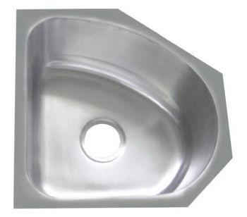 CUPC Small Size Stainless Steel Corner Single Bowl Irregular Shape Hand  Washing Sinks