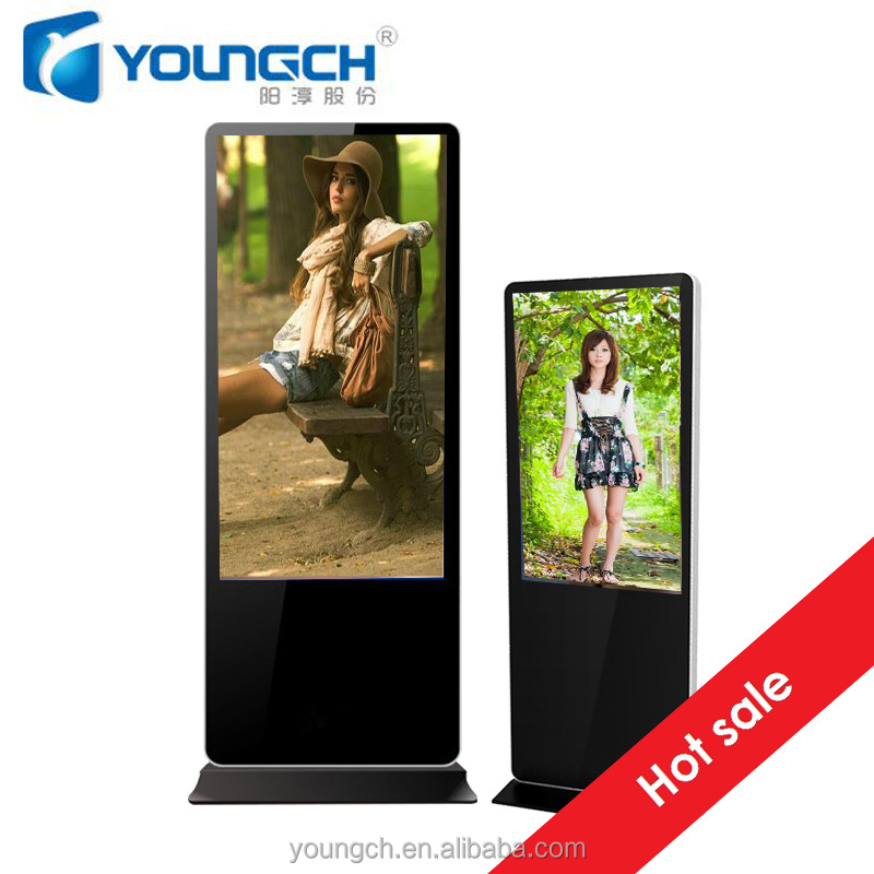 Commercial display for advertising player xvid mpeg divx wmw audio 42 inch floor digital signage
