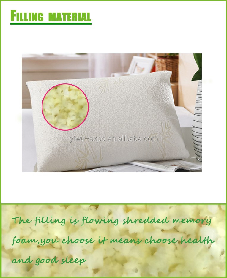 hot selling crumb bamboo memory foam pillow bed rest pillow for 5star hotel