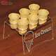 6 holes acrylic ice cream cone display holder for 6 cone plastic icecream cone rack