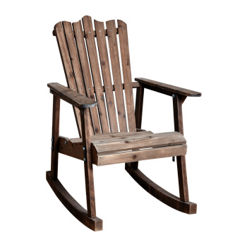 Superieur Pastoral Vintage Wooden Rocking Chair