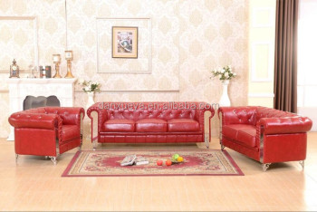 Danxueya Modern Design Sectional Dubai Red Leather Sofa Furniture