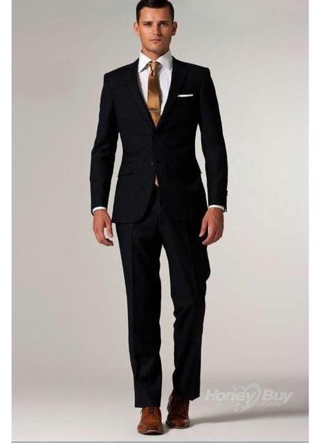 Custom Made Black Suit Black Tuxedo Black Men Suits With ...