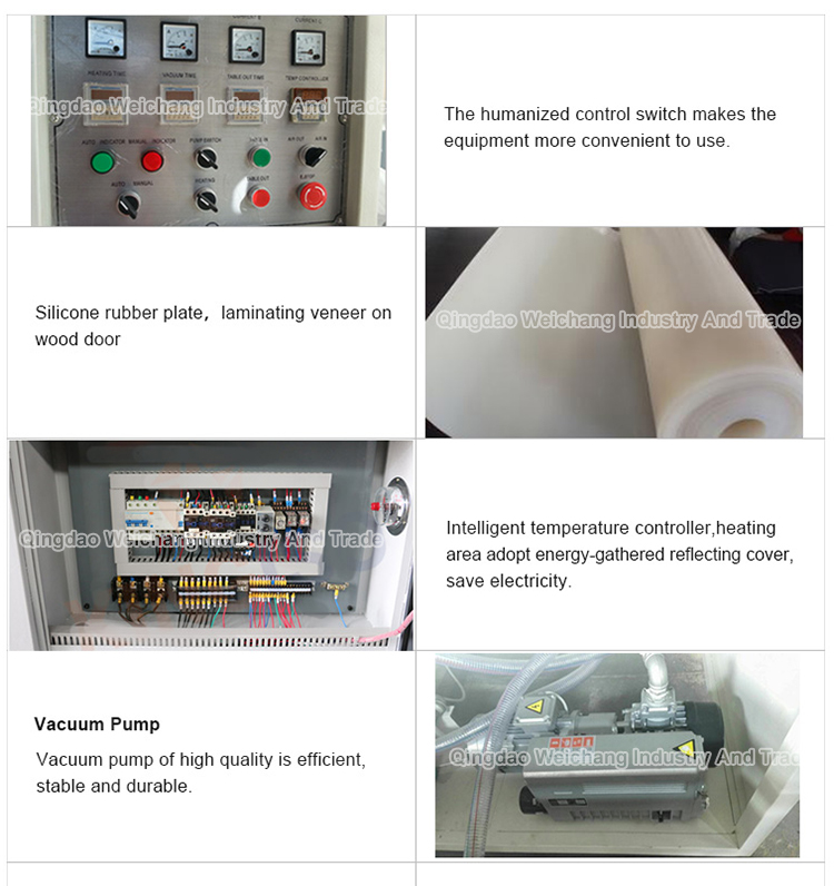 woodworking machine pvc film vacuum membrane press machine wood door