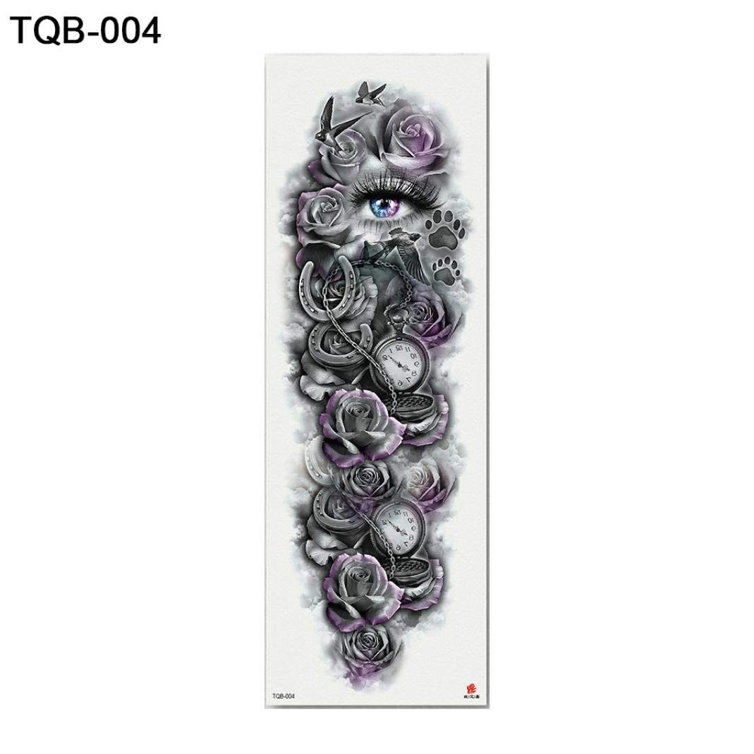 66121d23d Get Quotations · 1 Sheet Temporary Tattoo Transfer Stickers Nun Girl Pray  Design Full Flower Arm Body Art Fake