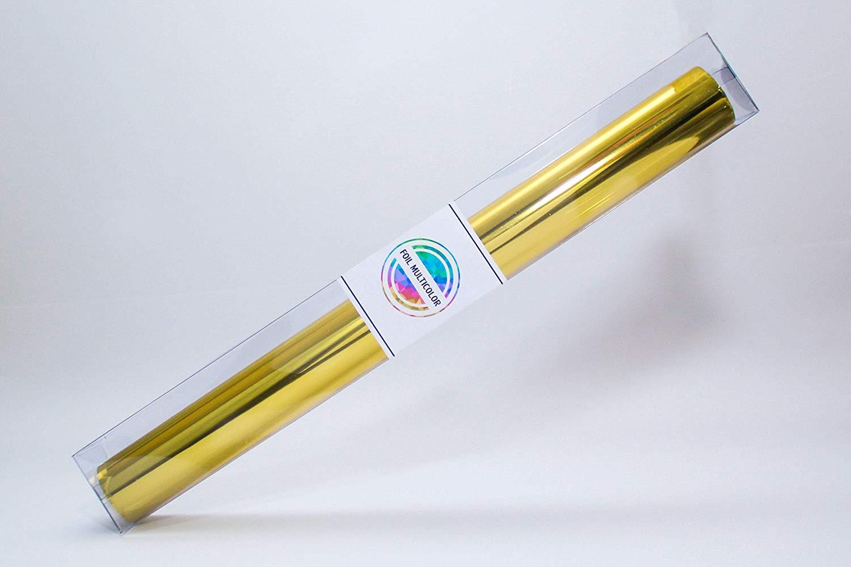"""Foil Multicolor México, Reactive Foil, Gold Foil, 32.80"""" x 12.59´ (10 mts x 32cm)."""