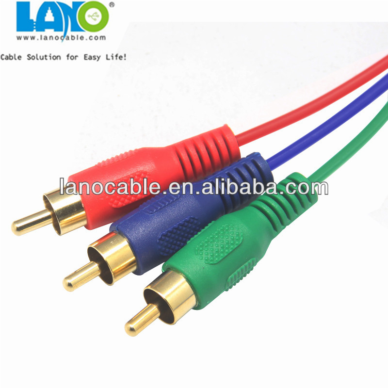 3.5mm jack to 3 rca male to male audio / video cable