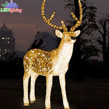 waterproof led 3d motif animal christmas light acrylic reindeer