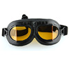 Men Women Glasses Leather matel Motocross Goggle Yellow Clear Lens Motorcycle Goggles