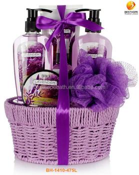 Beauty Spa Body Care Gift In Weave Basket - Buy Body Shop Gift ...