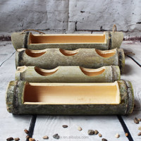 Long Polishing Bamboo Material Decoration Craft Bamboo Vase