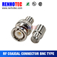 compression rj11 bnc coaxial connector for electric cable