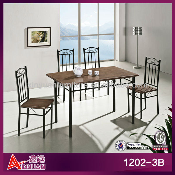 1202-3B modern high quality elegant european dining tables set