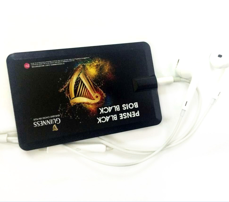 Cheap Plastic Elegant Business Card Blank MP3 <strong>player</strong> with Customize Logo