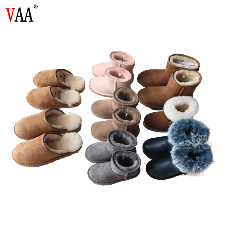 free samples hot selling 2018 unique design ladies snow shoes fashion winter boots genuine leather boots