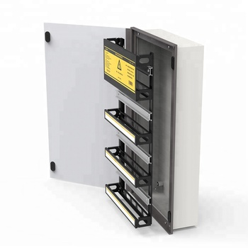 66 way 3 row L-Q smart home metal 3 phase power distribution box/control panel box/distribution board