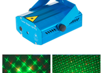 Blue Mini Projector Holographic Laser Star Stage Lighting Disco Party Light