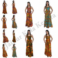 New Stylish Women Cotton Floral Printed Jumpsuit Ladies Evening Dress Wear