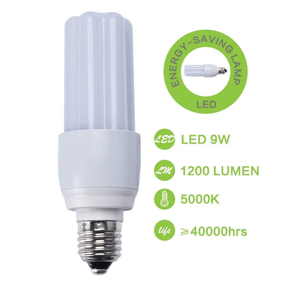 9W LED Energy Saving Lamp, Lampin Super Bright E27 LED Lighting Light Bulb 60 Watt Equivalent 5000K Daylight White for Home and Office