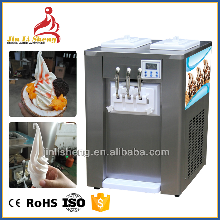 Commercial Ice Cream Making Machine For Sale, Counter Top Frozen Yogurt Machine Dispenser Ice Cream