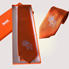 Bright Orange Jacquard Woven Design Your Own Silk tie for Men