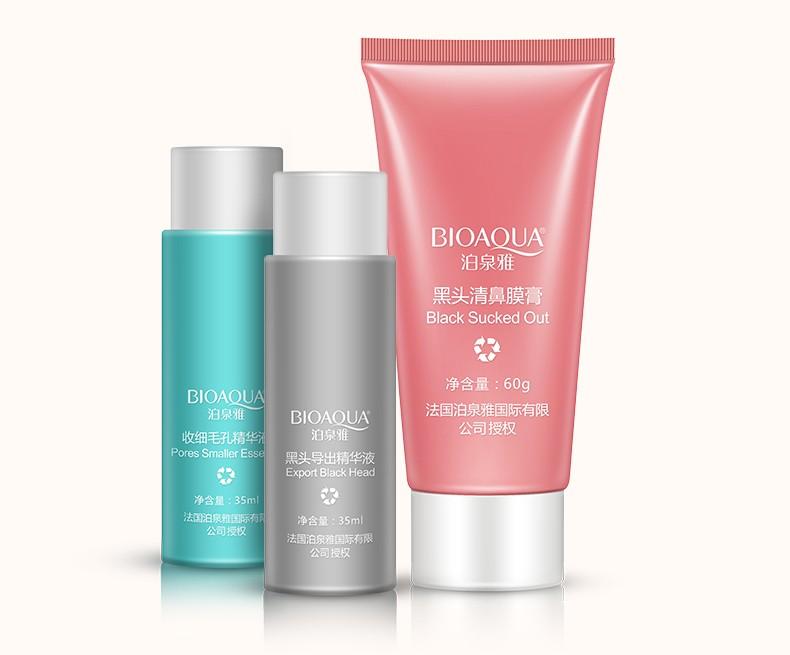 OEM/ODM BIOAQUA remove black head 3 steps set for skin care oily skin acne treatment