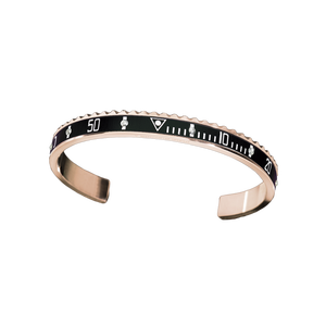 Men's High Quality Stainless Steel BLACK WITH DIAMONDS Speedometer Cuff Bangle Bracelet S3-0106