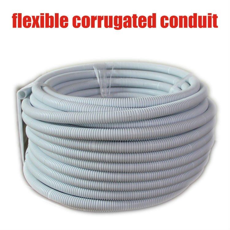 Mm pvc conduíte corrugado flexível tubos