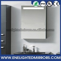 Top quality backlit LED recessed bathroom mirrored medicine cabinets