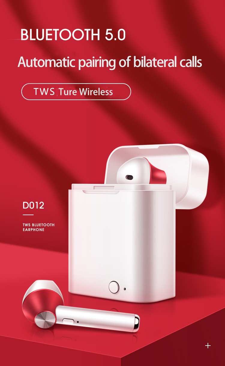Tws Truly Bluetooths 5.0 Mini Wireless  Earbuds With Portable Charging Box