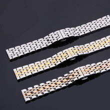 Handmade Band Stainless steel 20mm Vintage Watch Strap With Butterfly Buckle