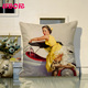 beauty printing new designs thai silk cushion cover