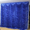 Portable Stage Blue Water Wave Curtain Backdrop