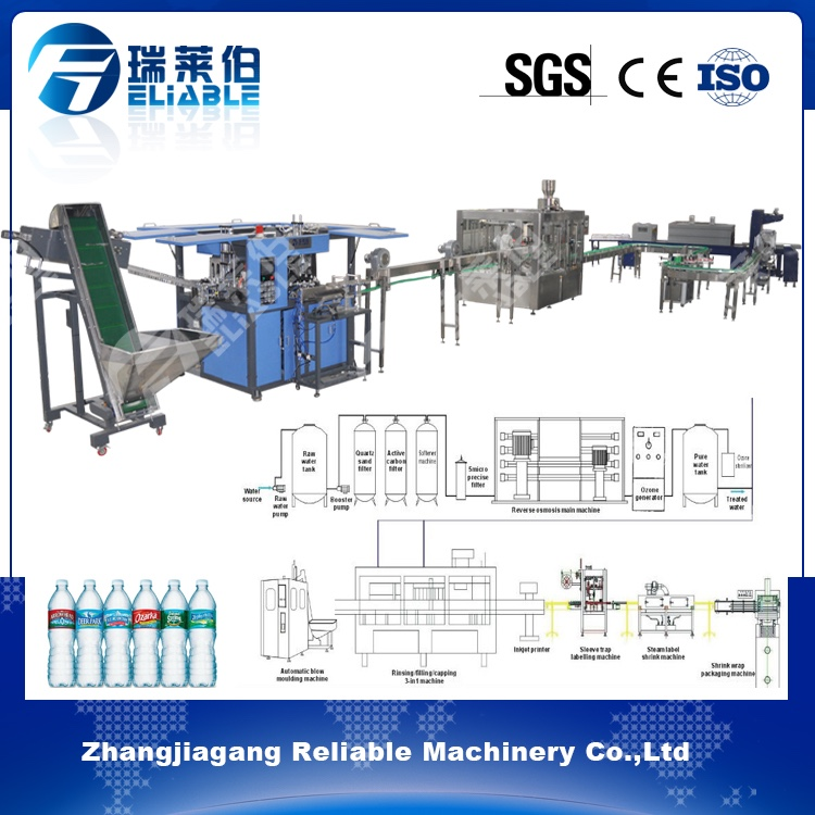 Low Price Of Complete Plastic Bottled Mineral Pure Water Filling Production Line