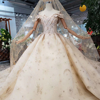 HTL153 luxury material wedding dresses with wedding veil spacial sweetheart shiny handmade bride dress wedding gown new fashion