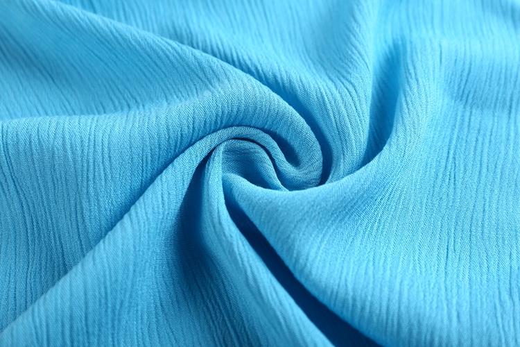 tissu viscose bleu roi Mousseline de soie substances au mètre Blouses Tissu uni