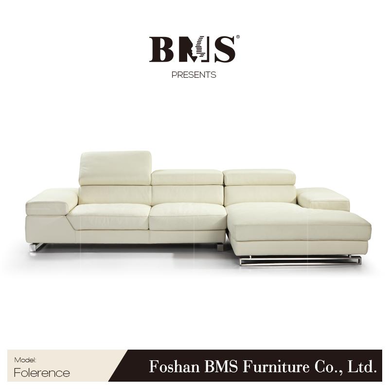 White Italian Natuzzi Leather Sofa