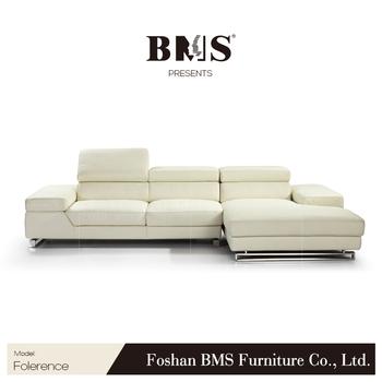 White Italian Natuzzi Leather Sofa Outlet