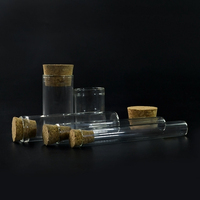 1ml 2ml 10ml 20ml 30ml Mini Clear Wishing Message Glass Bottles Vials With Cork