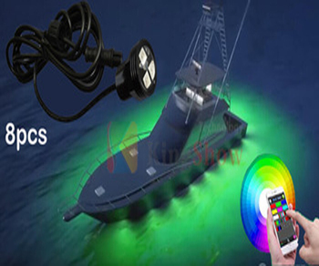 8pod 9w Rgb Led Drain Plug Light Underwater For Boat Lights Boats Product On Alibaba